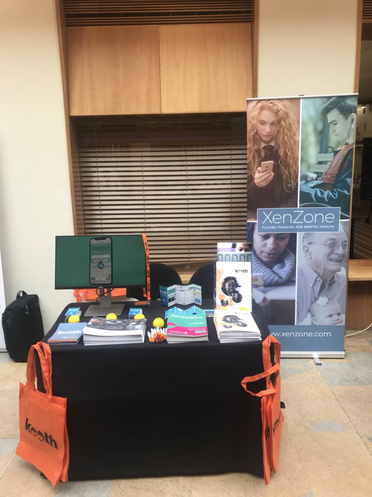 We're at @TheKingsFund Digital health and care Congress today and tomorrow - come by our stand to find out more about our online counselling services Kooth and Qwell #KFDigital19