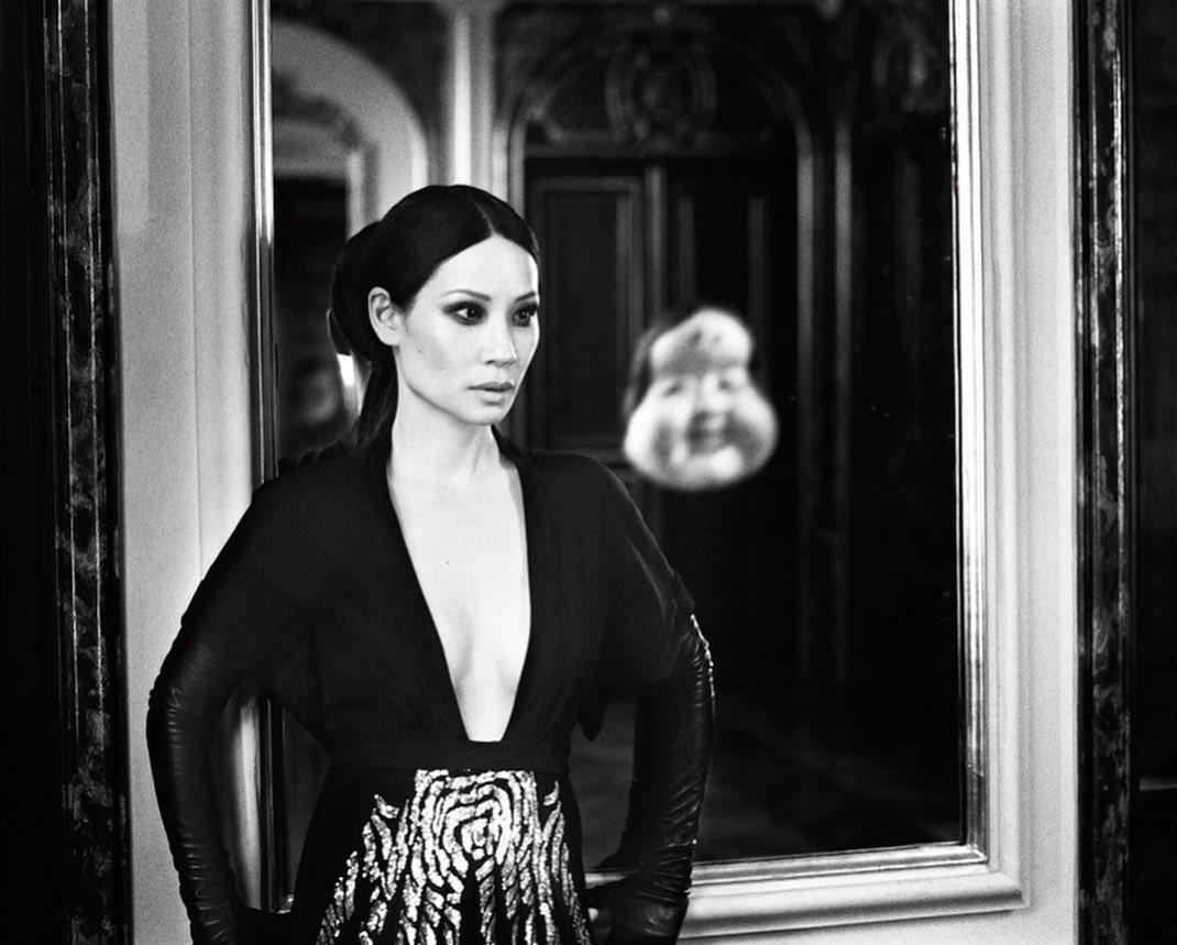 Lucy Liu for VOGUE ITALIA (JUNE 2019). photo: stephanie sednaoui.