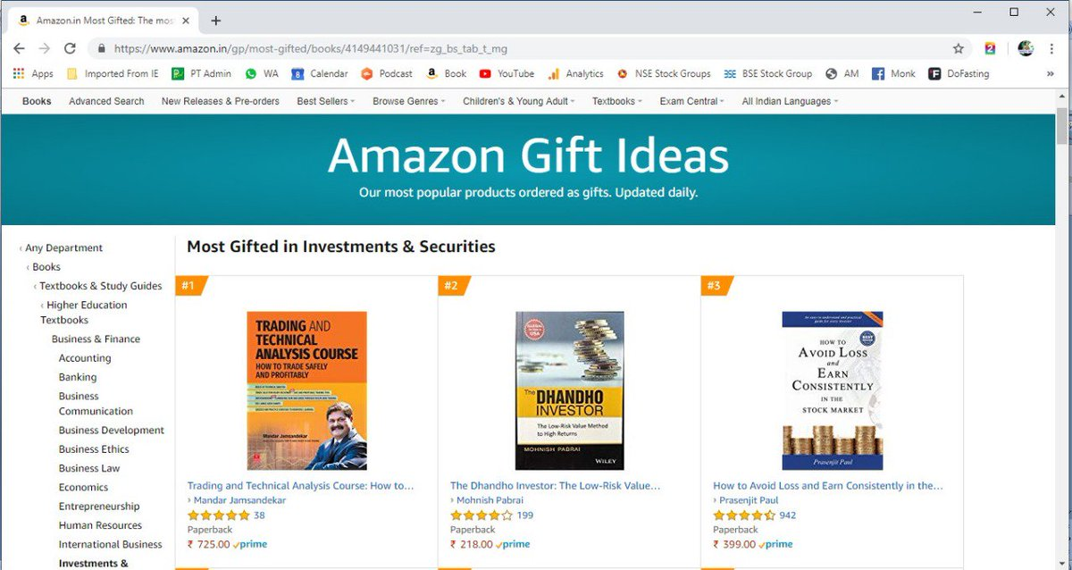 *Many Many Thanks!* *You have made my book No 1 on Amazon Gift Ideas.*  *I humbly accept the confidence that you have shown in me.*  *Your Love, Your Faith Gives Me A Lot Of Energy - Thank You!*  Regards, Mandar Jamsandekar Stock Market Monk https://t.co/rsvAfBbBzr https://t.co/iy4NgjynHs