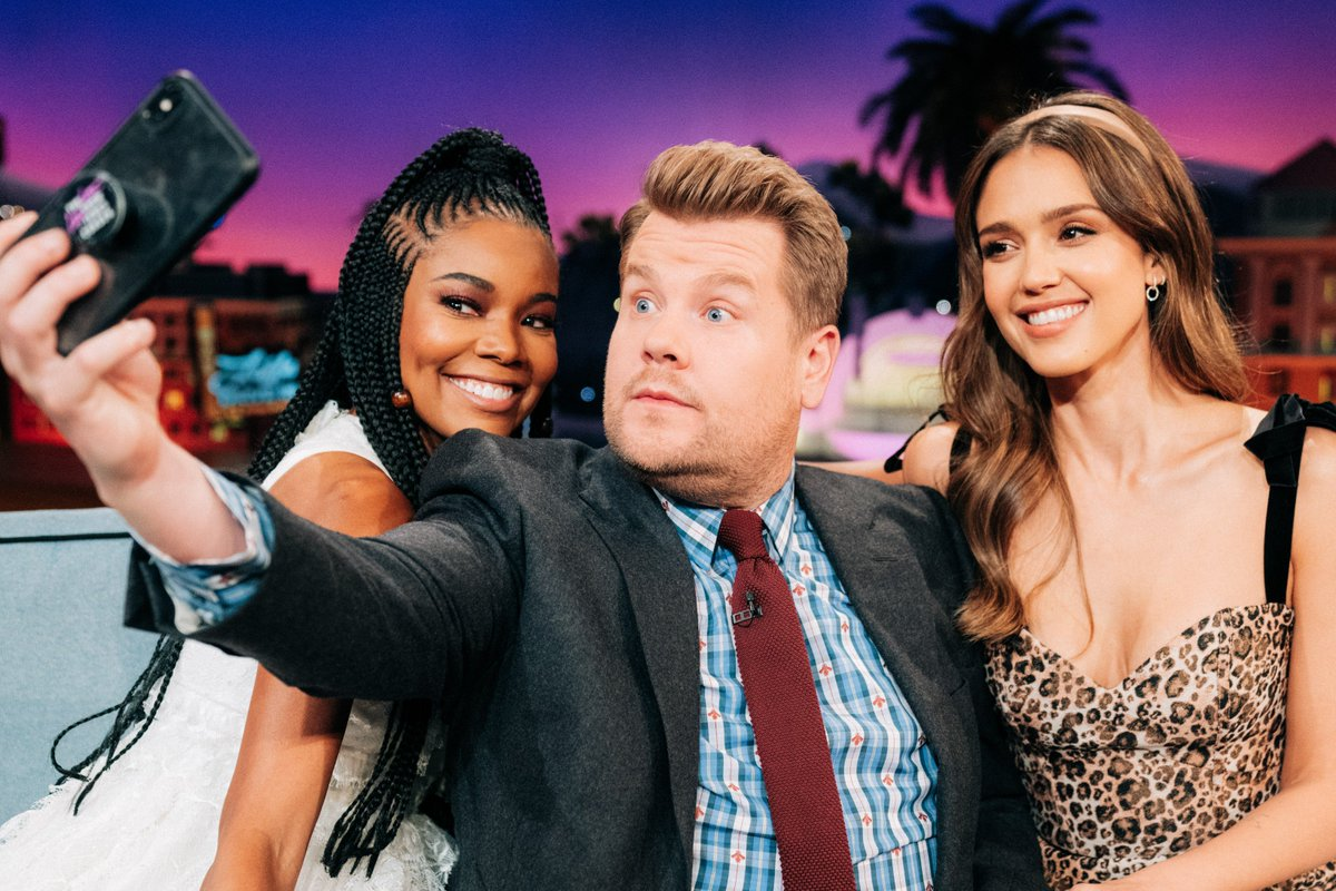 Not to brag but weve got @itsgabrielleu and @jessicaalba on an all-new #LateLateShow starting right now.