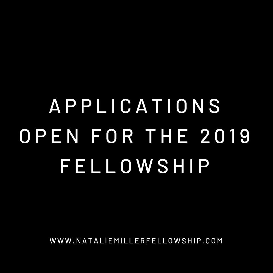 Applications are now open for the 2019 Natalie Miller Fellowship! We invite women in the Australian screen industry to apply for our annual grant of up to $20,000.  Find out more and apply here: https://bit.ly/2IB7zZc
