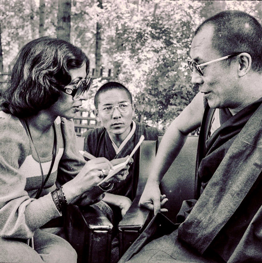 This interview with the Dalai Lama was done a day after Mao died. But I was not allowed political questions because of the Emergency. He laughed and said, 'It's the day after Mao died but if you want to talk about religion that's fine.' We must remember dark times! <br>http://pic.twitter.com/rZ5DlGl61O