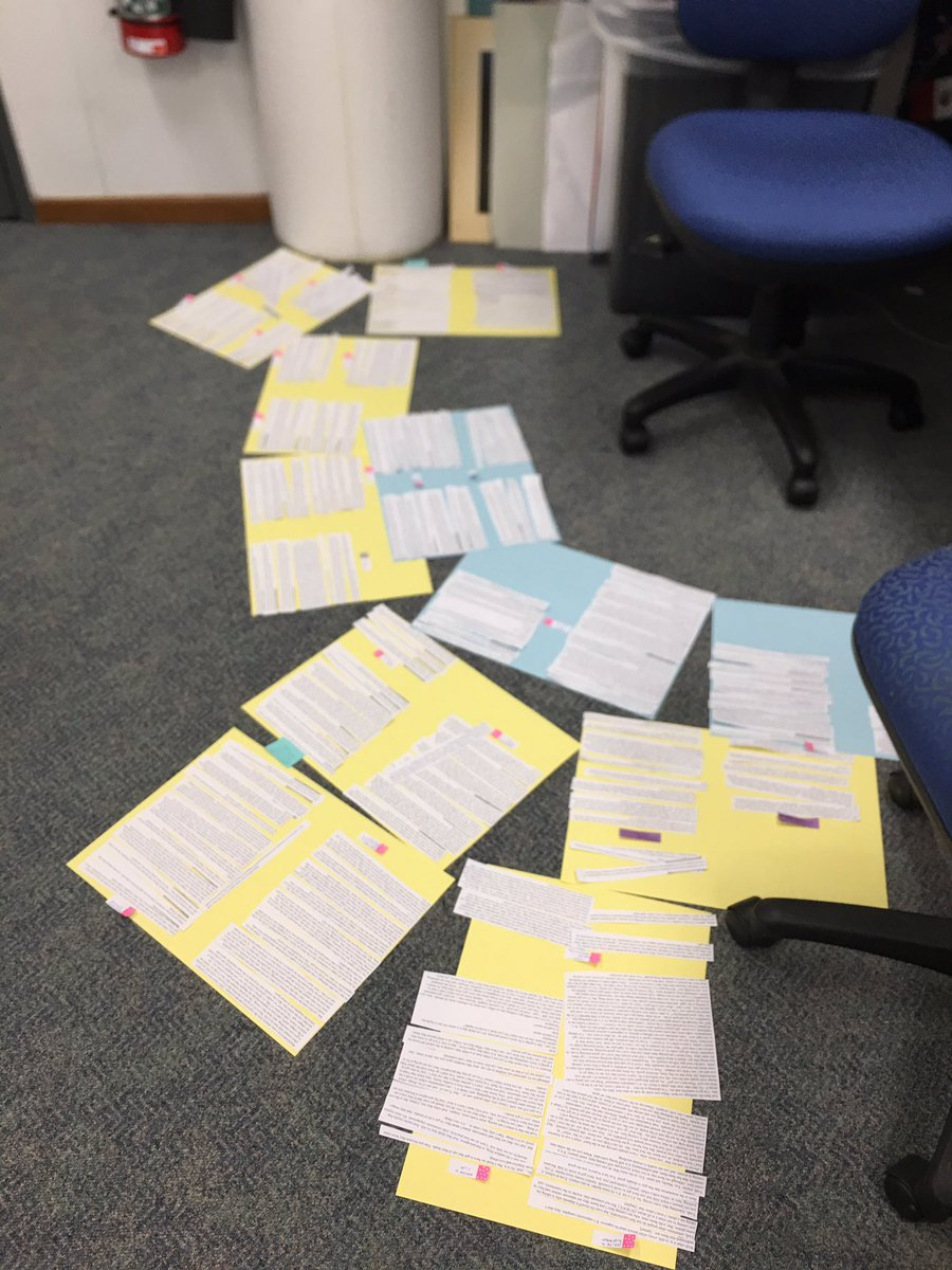 Currently sorting out my initial coding of my interview data! And this isn't even half of it #phdlife #phdchat<br>http://pic.twitter.com/HtjHoTMdyT
