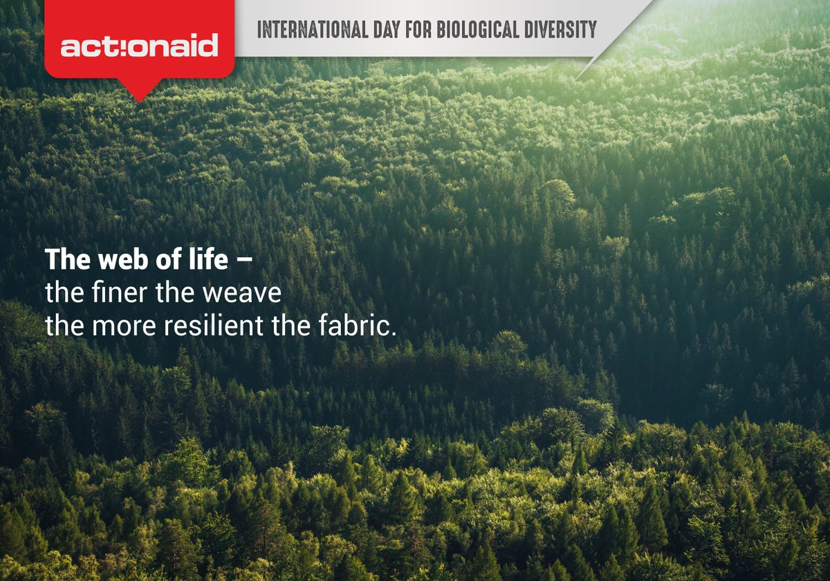 Biological diversity means more sustainability, more resilience and a better quality of life for all. #BiodiversityDay