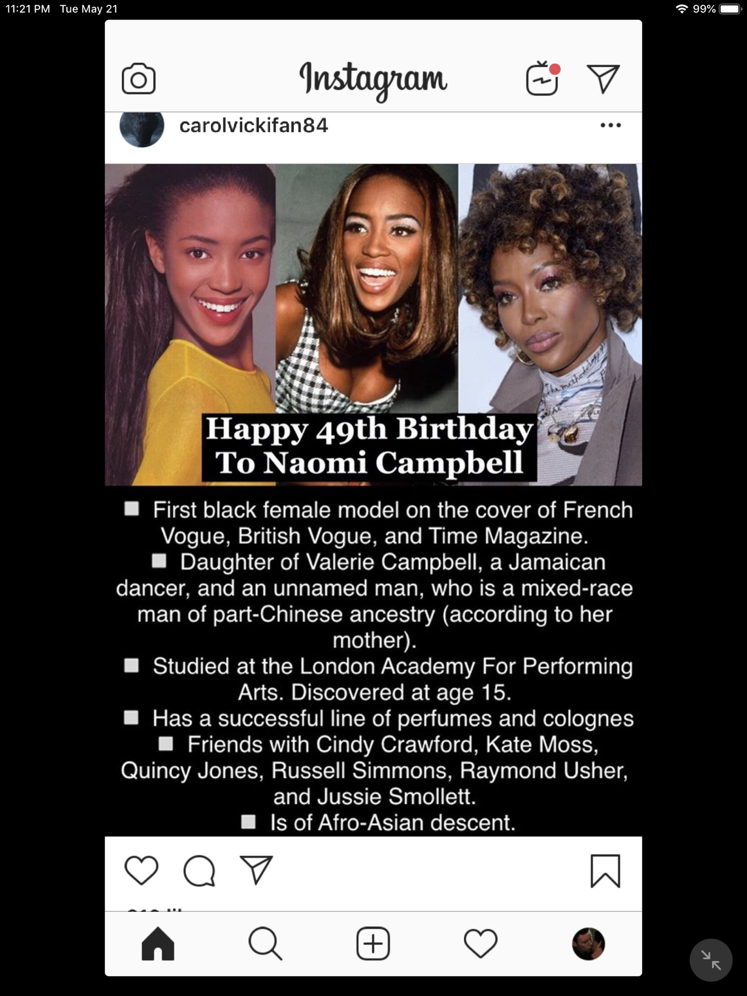 Happy Birthday! Naomi Campbell, Paul Winfield, Laurence Olivier And Susan Strasberg!