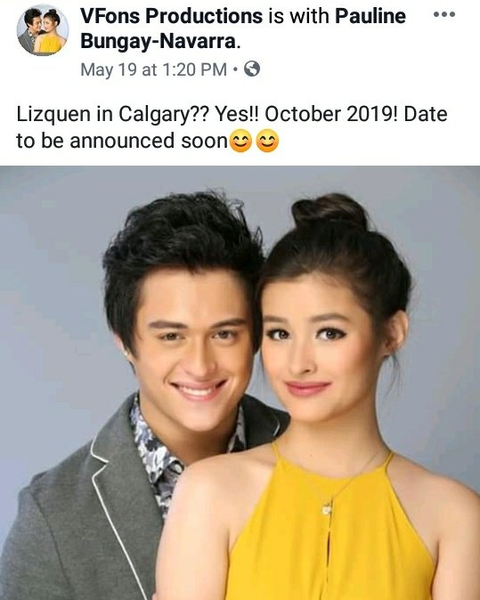 Yehey! LizQuen in Calgary this October 2019! Please spread the word guys....❤  cto