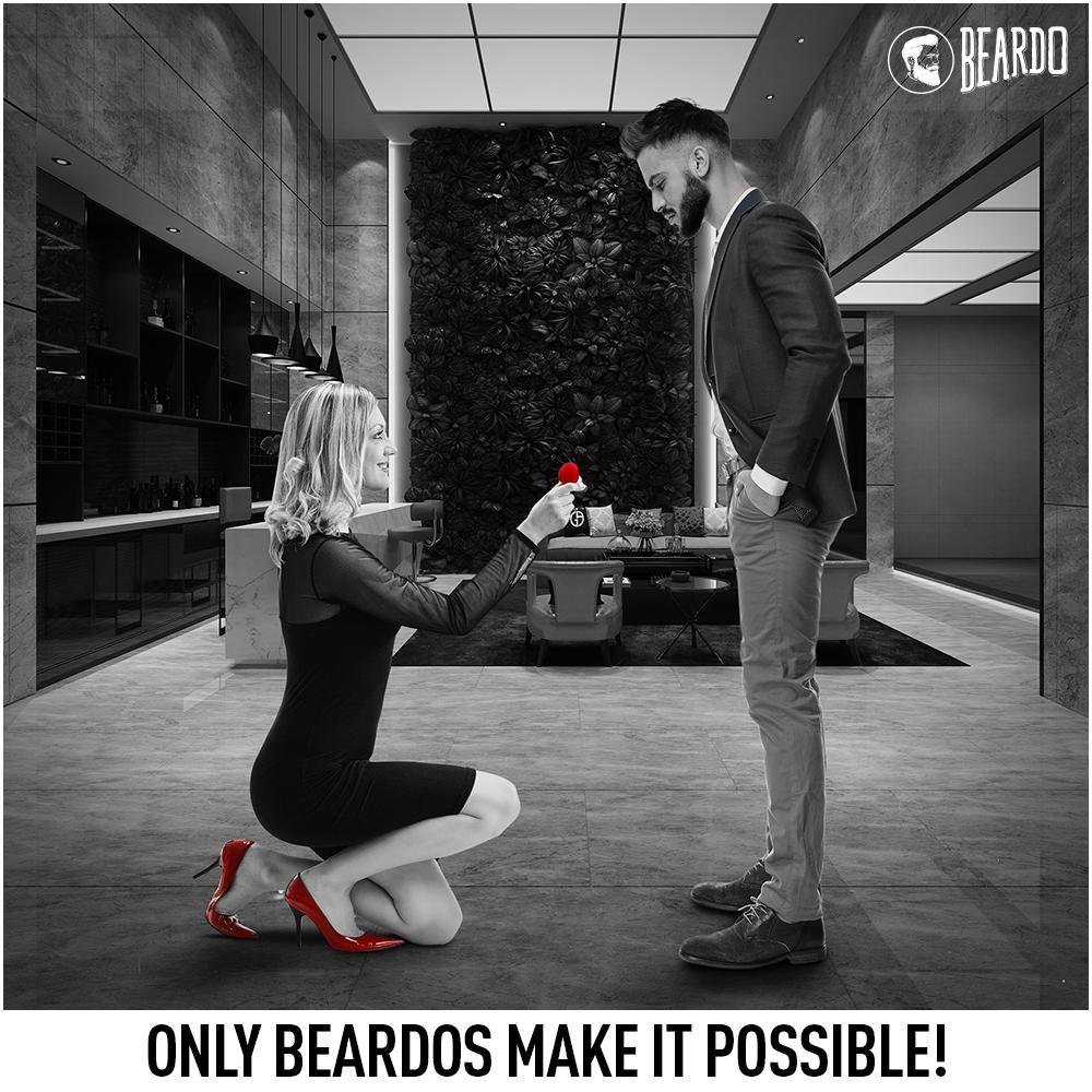 That's what a proposal looks like for a #Beardo  #BeBeardo