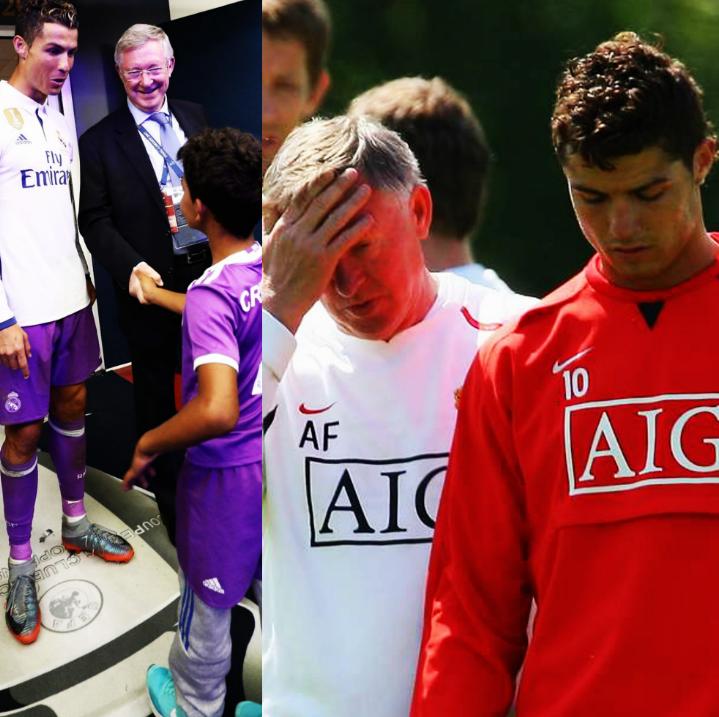 Cristiano Ronaldo: Aprendí mucho de Sir Alex. Uno de los aspectos que todavía recuerdo es la toma de decisiones. Tú eres bueno, pero no sabes tomar decisiones. Pasa la maldita pelota, me decía. Siempre me decía eso: Cristiano, pasa la maldita pelota. #FraseAEnmarcar