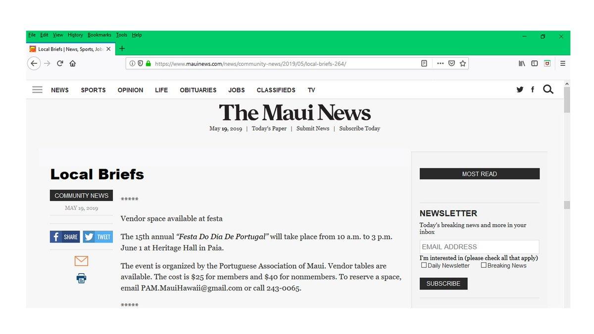 Maui News Community