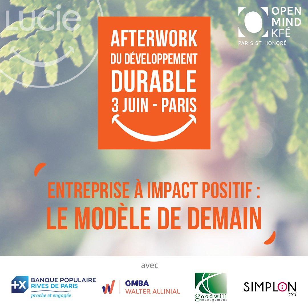 afterwork SEDD LUCIE | Entreprise à impact : le modèle de demain