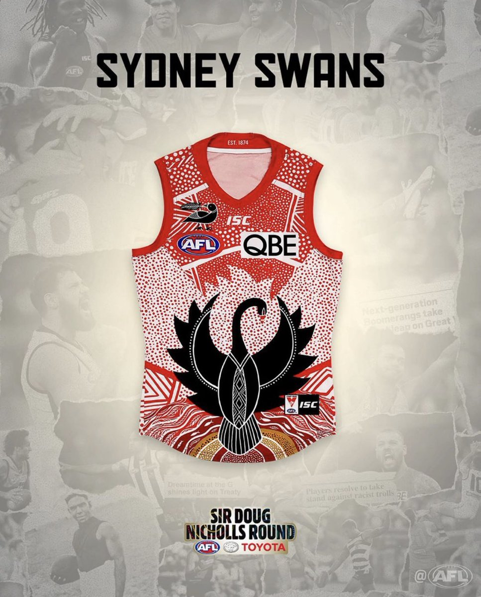 Indigenous guernseys have gone next level this year but wow @sydneyswans #1 🙌🏻
