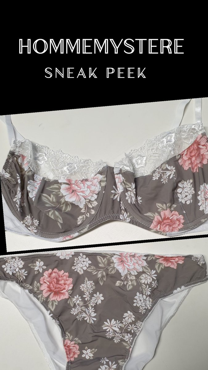 69318522c Another stunning floral print on lightweight stretch fabric matched with  white lace. So pretty   feminine! Name suggestions please!