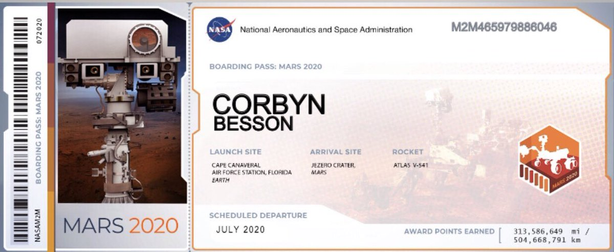 Hey Corbyn your name is gonna be in mars @corbynbesson you're welcome