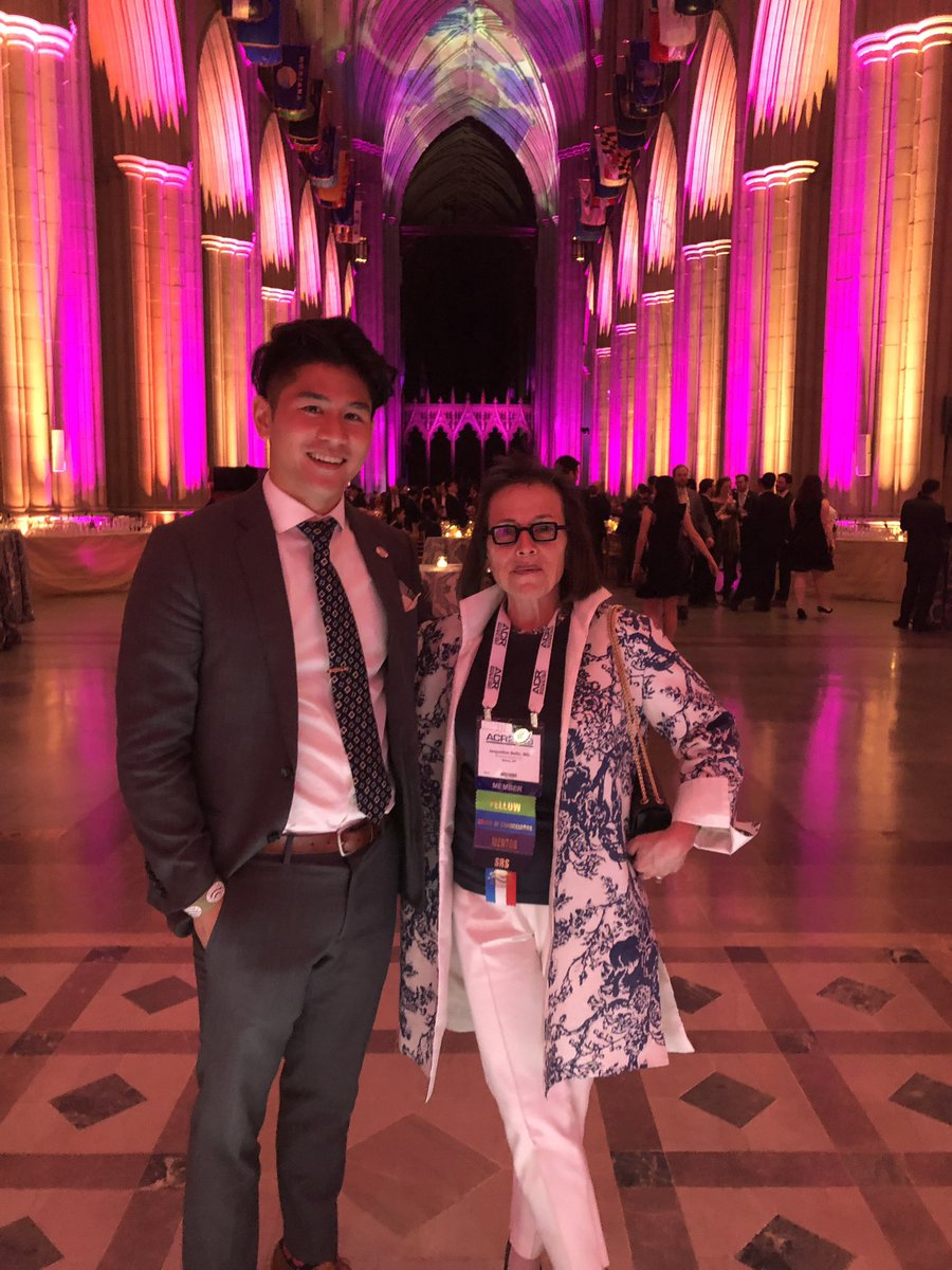 .@JBelloMD and #radres @RobertPengMD supporting #radvocacy and celebrating the 20th anniversary of @RADPAC at the Washington National Cathedral . #ACR2019 @RadiologyACR @ACRRFS @ACRYPS @TheASNR @ACRRAN @MontefioreNYC @EinsteinMed<br>http://pic.twitter.com/8IOpzChjI3