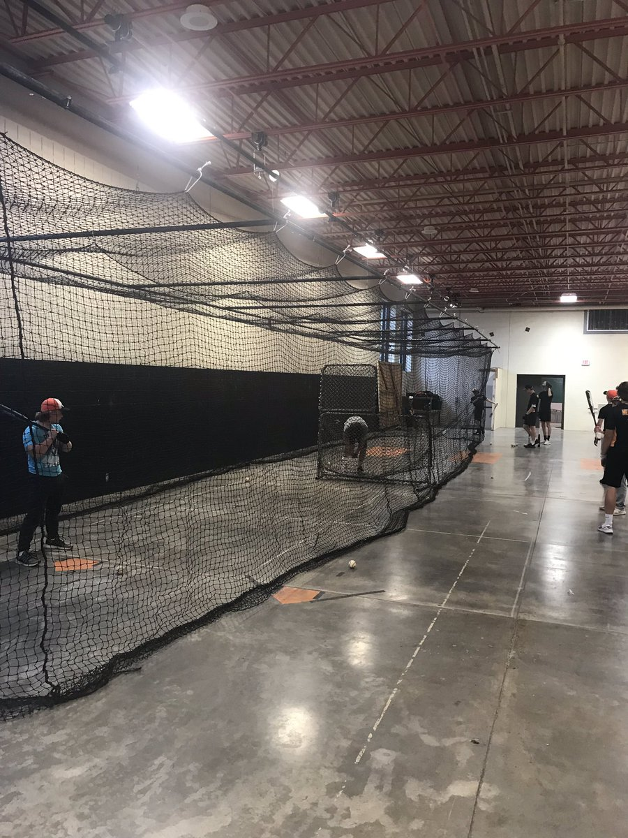 Out with the old and in with the new. Our old batting cage went out of service after 25+ years. Now hitting should improve. 🤞