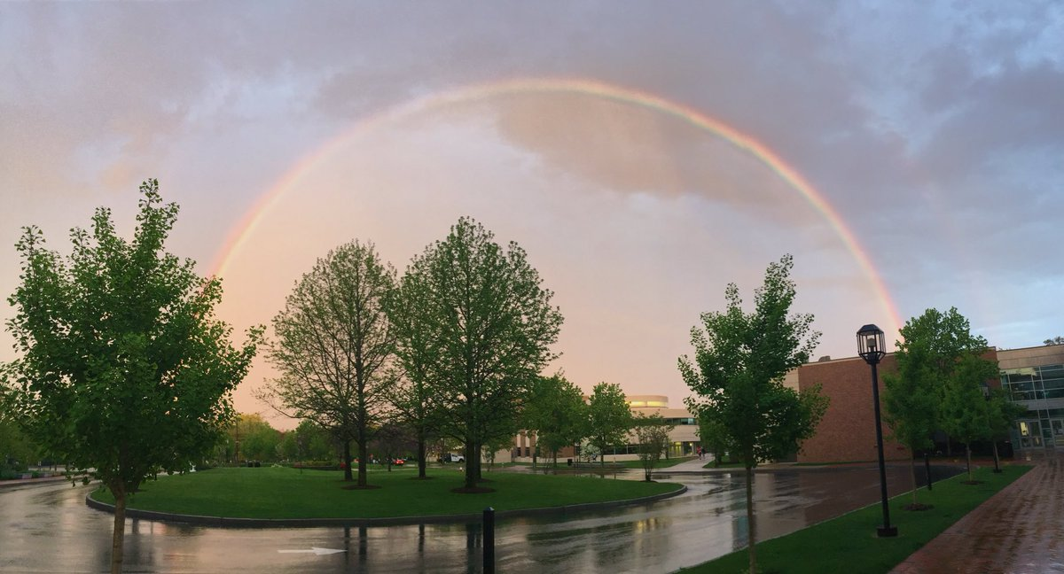 @BryantUniv May 20th, 2019, after thunderstorms! Photo by Caroline Shen.