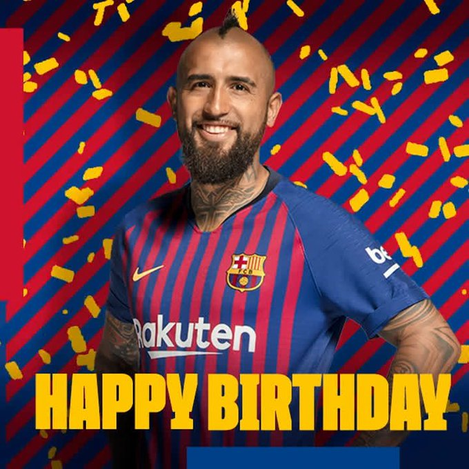 | Happy birthday and congratulations to Arturo Vidal, who turns 32 today.