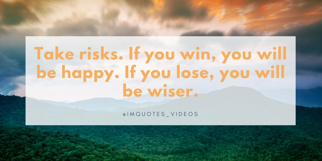 Don&#39;t be afraid to take risks...regardless of the outcome you will always benefit in some way.  #WednesdayMotivation <br>http://pic.twitter.com/dntJewY6tk