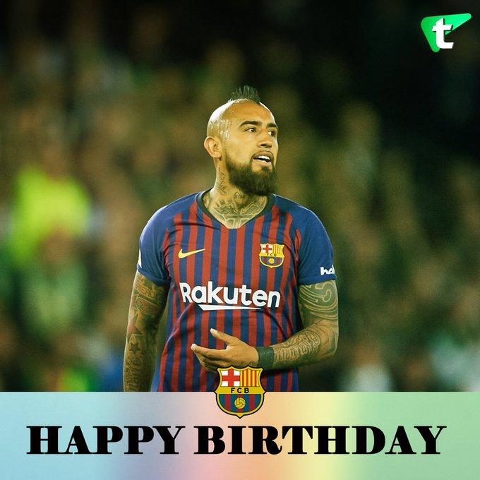 Happy 32nd birthday to Arturo Vidal      -
