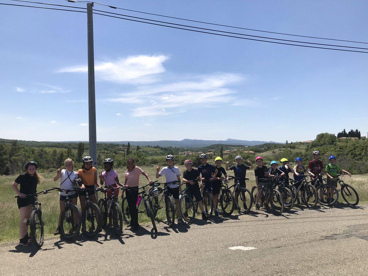 Students loving the big bike ride! #Franceresiliencecamp2019