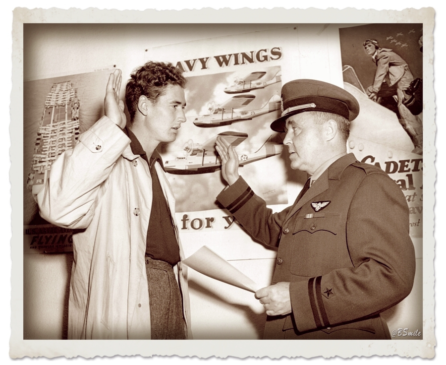 Today In 1942: Baseball legend Ted Williams is sworn into the U.S. Naval Reserve. He'd win the '42 American League Triple Crown before being called for active duty in WWII, causing him to miss the next three seasons to military service. #MLB #RedSox #History