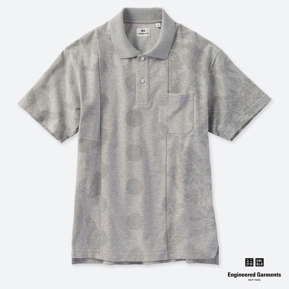メンズはEngineered GarmentsとUNIQLOのコラボがオススメ! 太さの違うボーダー、異なる3つの図柄を同系色で組み合わせたあたりがおしゃれ!  発売日は、2019年5月27日(月) #ユニクロ #ポロシャツ #エンジニアードガーメンツ