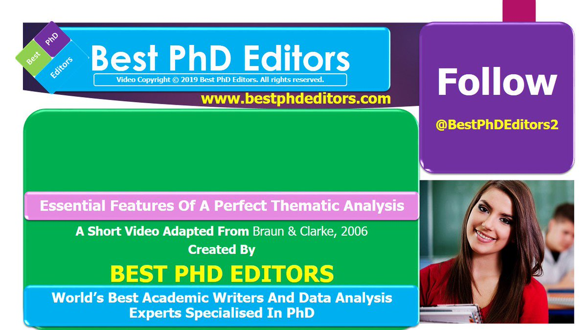 ▶️ Essential Features Of A Perfect #Thematic_Analysis  ✅ A Tutorial Video You Must Not Miss   ❤ Contact @BestPhDEditors2 For #Data_Analysis_Services #Academic_Writing #Thesis #Dissertation #ResearchProposal #LiteratureReview #Qualitative_Research #PhD #phdchat #bestphdeditors