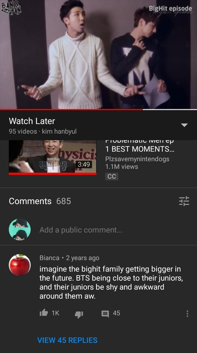 I saw this comment under the first BIGHIT episode. Guess who&#39;s crying. @TXT_members <br>http://pic.twitter.com/Q5KgC7VgFi