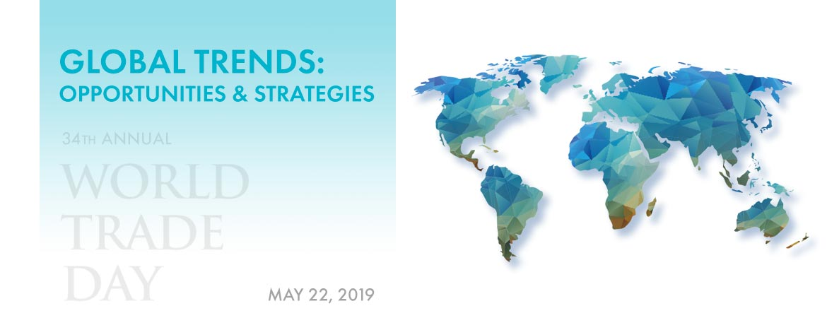 It's World Trade Day! This year's theme is Global Trends: Opportunities & Strategies. Full agenda and speaker information is available at: https://worldtradeday.bryant.edu/