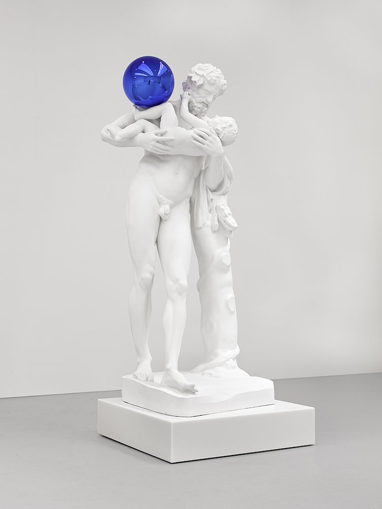 """Reflection affirms the viewer. It affirms the right here, right now, and from that point you can start to time travel. You can play with metaphysics"" See Gazing Ball (Silenus with Baby Dionysus) in Jeff Koons at the Ashmolean until 9 Jun --> ashmolean.org/jeffkoons"