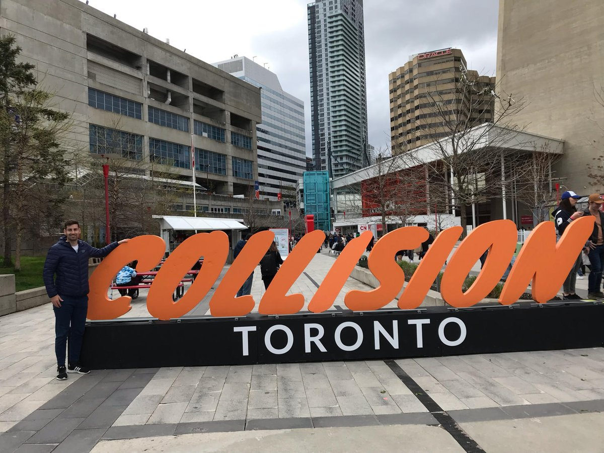 Marco R. Majer is attending the @CollisionHQ in Toronto, Canada, to further develop the @deHubChemHealth global network. #startup #5HT_ontour https://t.co/UAoqHFFjxX