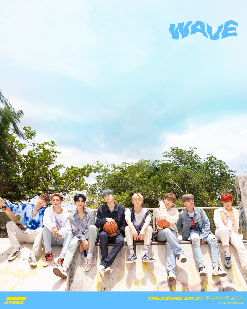 [📷] ATEEZ TREASURE EP.3 : One To All Title Poster 2  ALBUM RELEASE 2019. 6. 10 6PM  #One_To_All #WAVE #ATEEZ #에이티즈