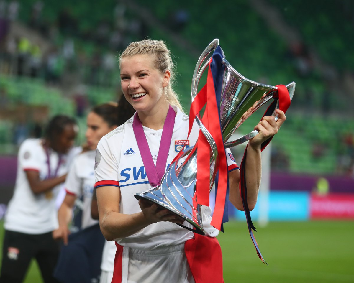 """""""The men in the suits can't ignore it. They are going to understand one day.""""  #BBCWFOTY winner Ada Hegerberg on her fight for equality in football 👉 https://bbc.in/2HJzMhi  #ChangeTheGame"""