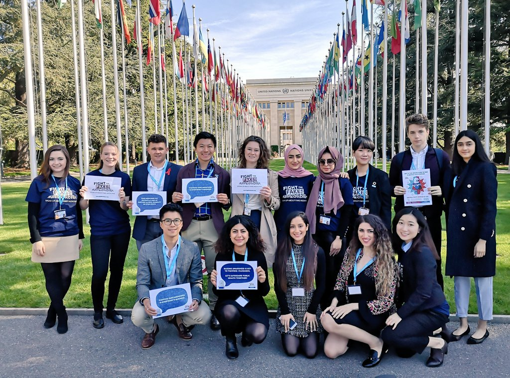 Guess who's at the United Nations? @UCLFightsFakes are here to spread the word of #FightTheFakes! #WHA72 @FightTheFakes @ucl @School_Pharmacy @PharmSquare