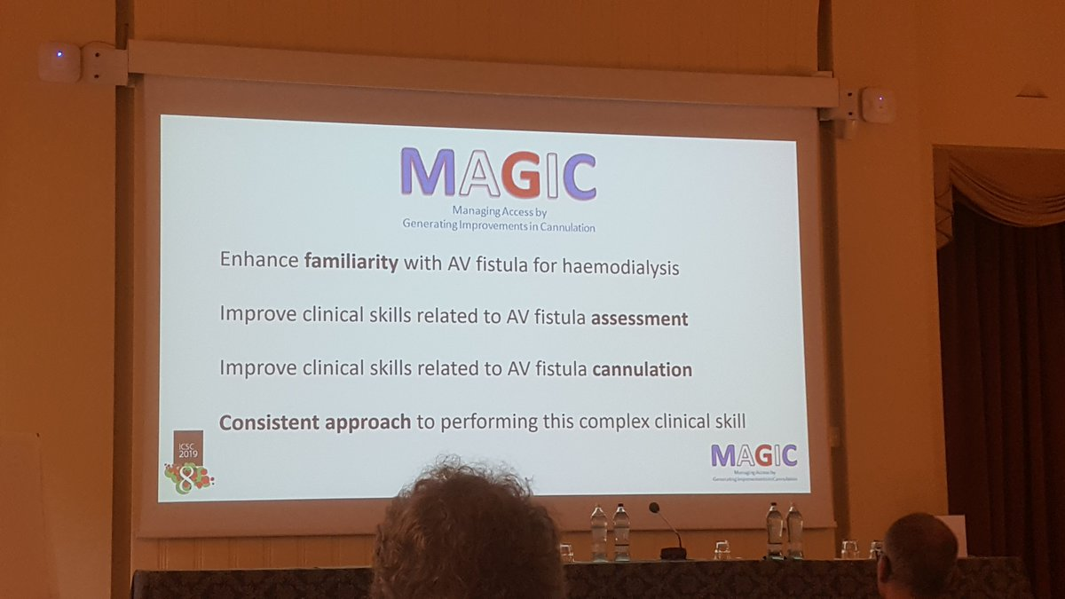 Important goals for safe AV fistula cannulation #ICSC8 #MAGIC @drscottoliver