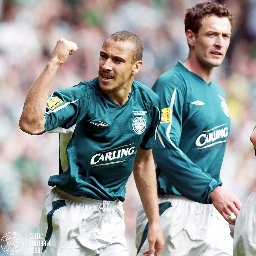 #ScottishCupFinal throwback...Henrik Larsson scored a brace at Hampden, securing the Scottish Cup in his final game for #CelticFC, on this day in 2004!