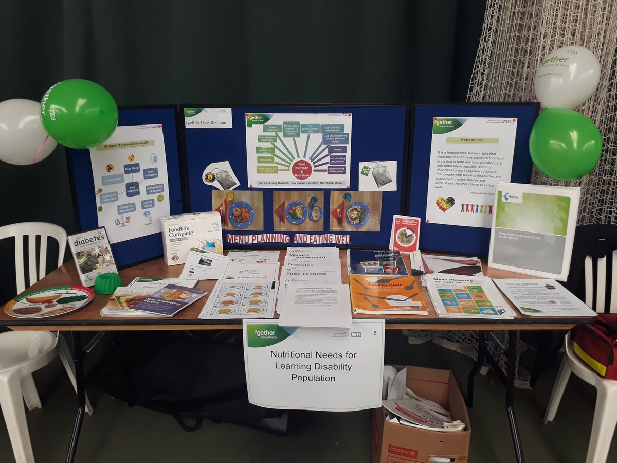Another gorgeous sunny day for the annual big health check and social care day! Stall is ready for lots of conversations about nutrition and LD #bighealth19 @2getherTrust https://t.co/AvzVc9lBIT