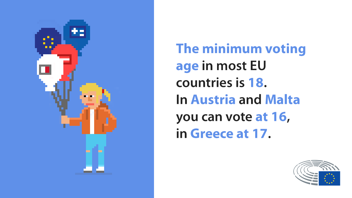 The European elections take place on 23-26 May, but do you know how old you have to be to vote?