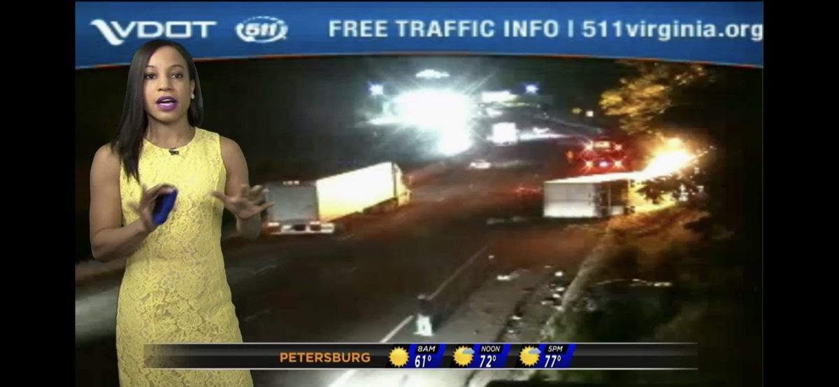 Overturned tractor trailer on fire I-95 South near
