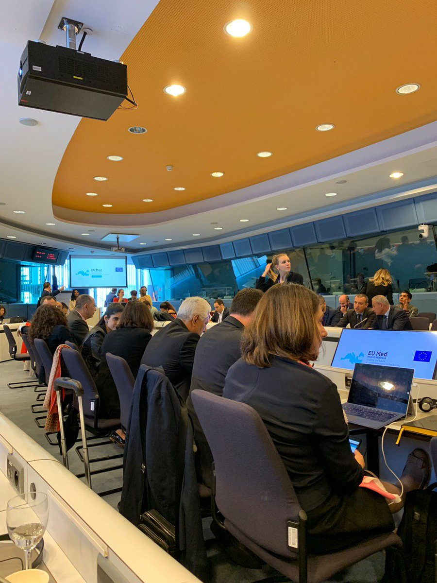 #EUMED4business Conference- 2nd Day: Presentation, prioritizing & voting of the recommendations made by the working groups of yesterday's parallel workshops on #entrepreneurship, #job creation, #MSMES growth, innovation, enhancing skills, education, etc. #Mediterranean #EU #Youth