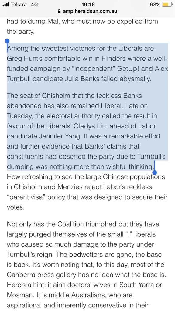Banks and her Turnbull delusion... From my column in today's @theheraldsun heraldsun.com.au/news/opinion/r…