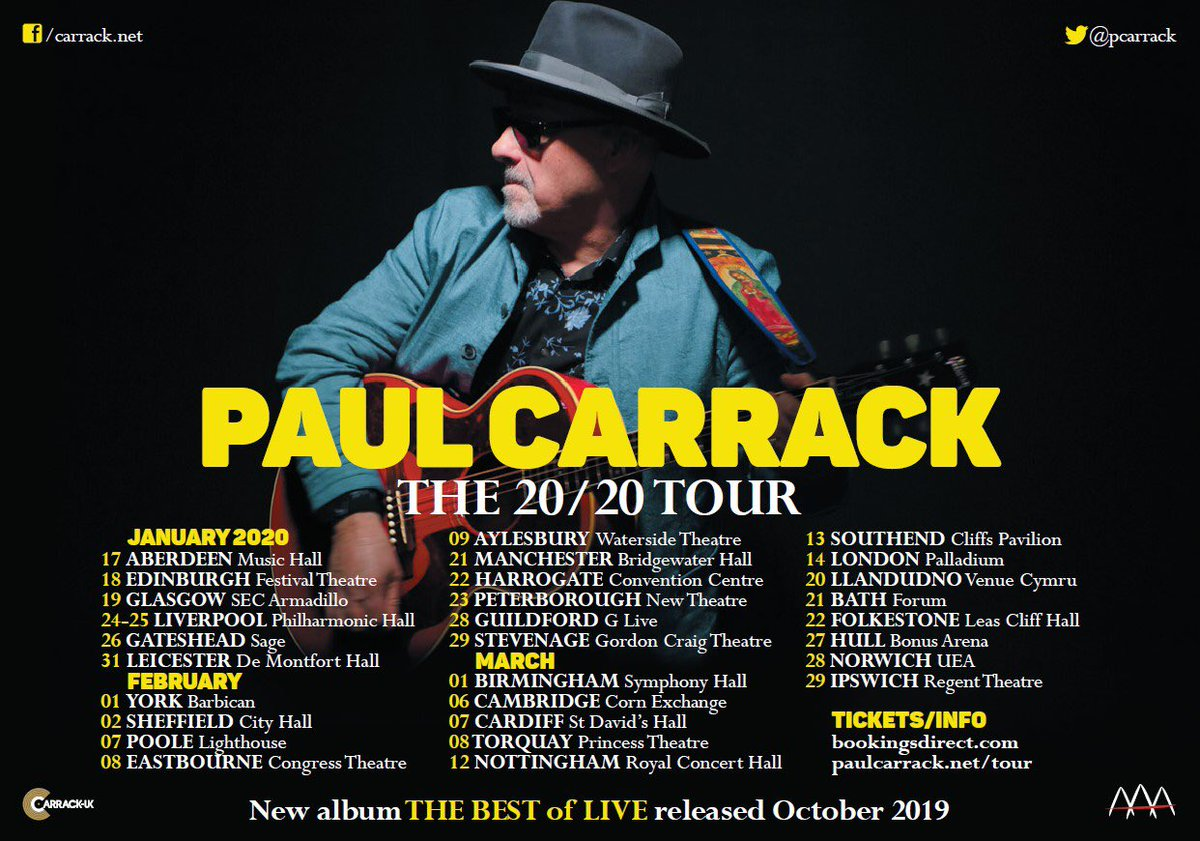 Yes Tour 2020 Tickets Paul Carrack on Twitter: