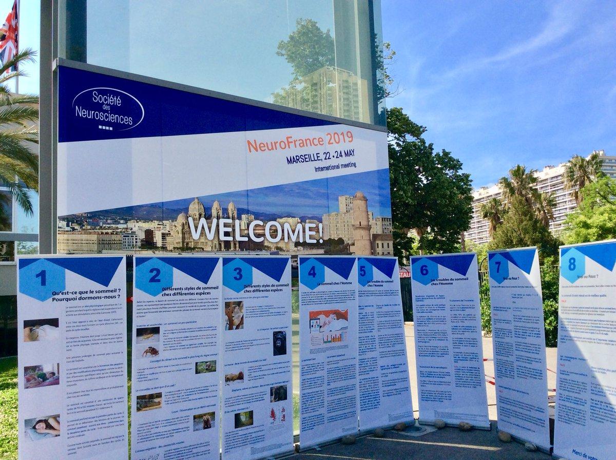 Bienvenus à #NeuroFrance2019 organisé par @SocNeuro_Tweets sous le soleil de #Marseille, 3 jours pour faire travailler les neurones! #Cerveau