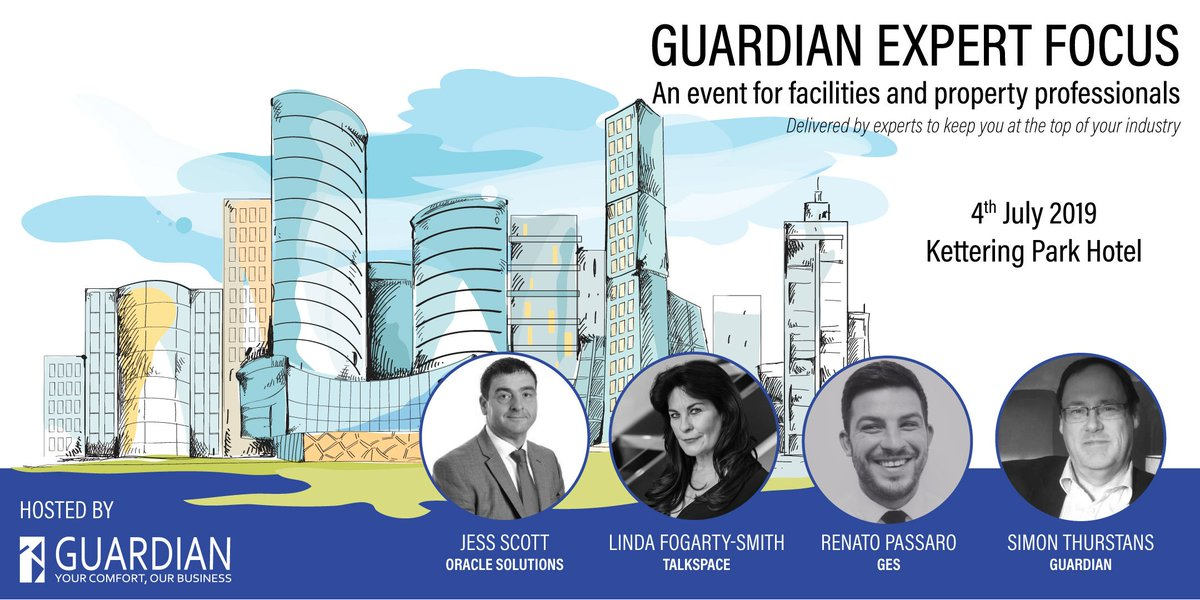 #OPBondholder @talkspacegroup will be amongst an expert panel on 4 July discussing a wide range of topics relating to property and facilities management - from negotiation skills to maintenance! https://www.opportunitypeterborough.co.uk/events/guardian-expert-focus/…