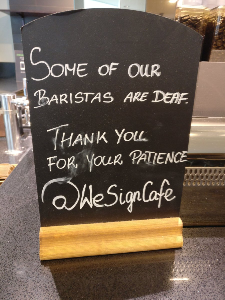 Starbucks Canary Wharf. This made me happy #inclusion @cafe_sign