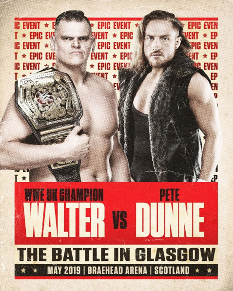 The Battle in Glasgow The #Bruiserweight @PeteDunneYxB looks to clamp his teeth on the @WWEUK gold once again...but will @WalterAUT solidify his reign as the @WWE #UKChampion?Find out tonight on #NXTUK at 8pm, only on the @WWENetwork!