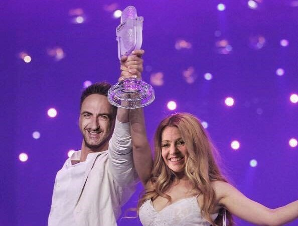 Anyways wanna see this duo wt esc for san marino, but you know serhat won't return again big F <br>http://pic.twitter.com/y5hbAN9lUw