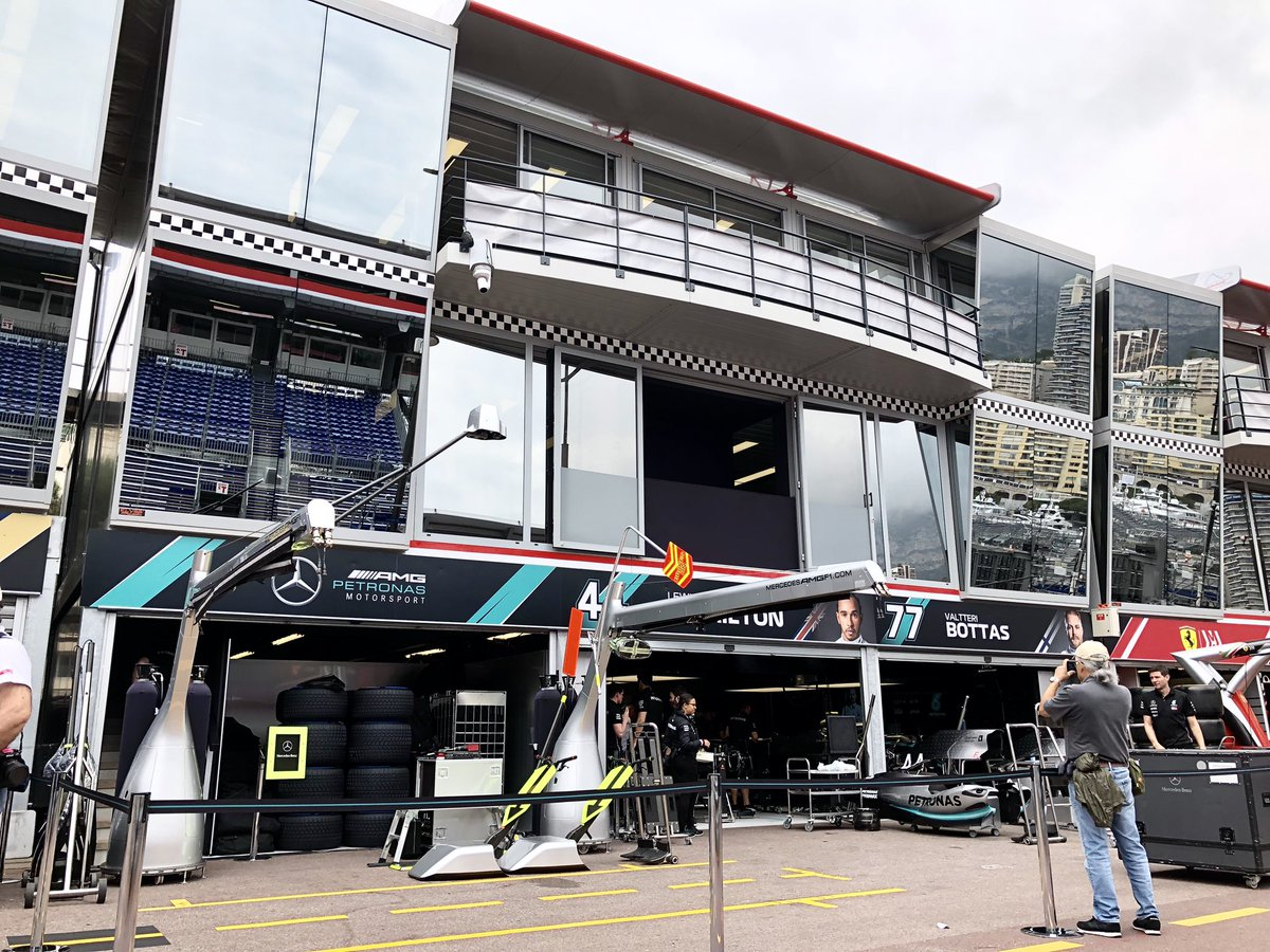 Mercedes Team is arrived in Monaco 👀  #MonacoGP #F1 #TeamLH #VB77 #DrivenByEachOther