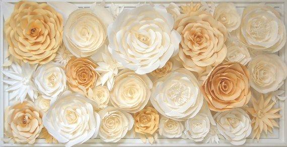 Flower Wall Sculpture  White Butter Yellow Flower 3D Wall  http:// dld.bz/gt8TF  &nbsp;   #paperflowers 3d #weddings #flowerwall<br>http://pic.twitter.com/4gTrY4L8UJ