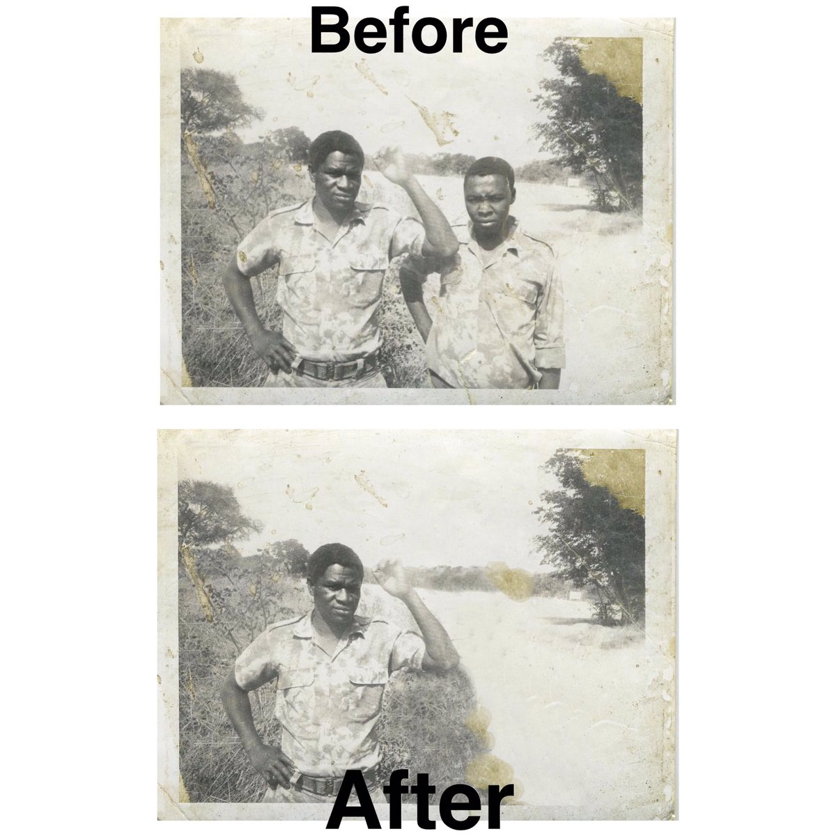 I need of professional photo Restoration? Look no further.  I offer:  •Removal of objects/people  •Quality Restoration  •Photo Retouching  •Background Removal  Contact: 0816457309 or DM me. <br>http://pic.twitter.com/Zxd6G7niug
